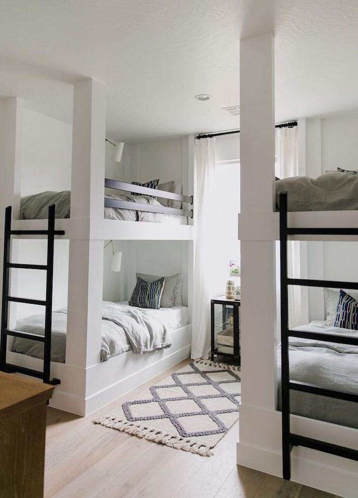 10 thiết kế trang trí phòng ngủ dành cho nhà đông người đẹp tuyệt vời ai nhìn cũng thích mê - Ảnh 8.