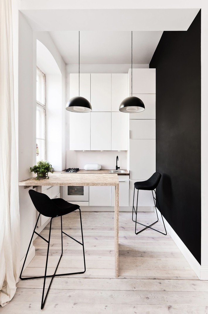 9 phòng bếp nhỏ xíu nhưng nhìn là mê, rất đáng tham khảo cho nhà chật - Ảnh 4.