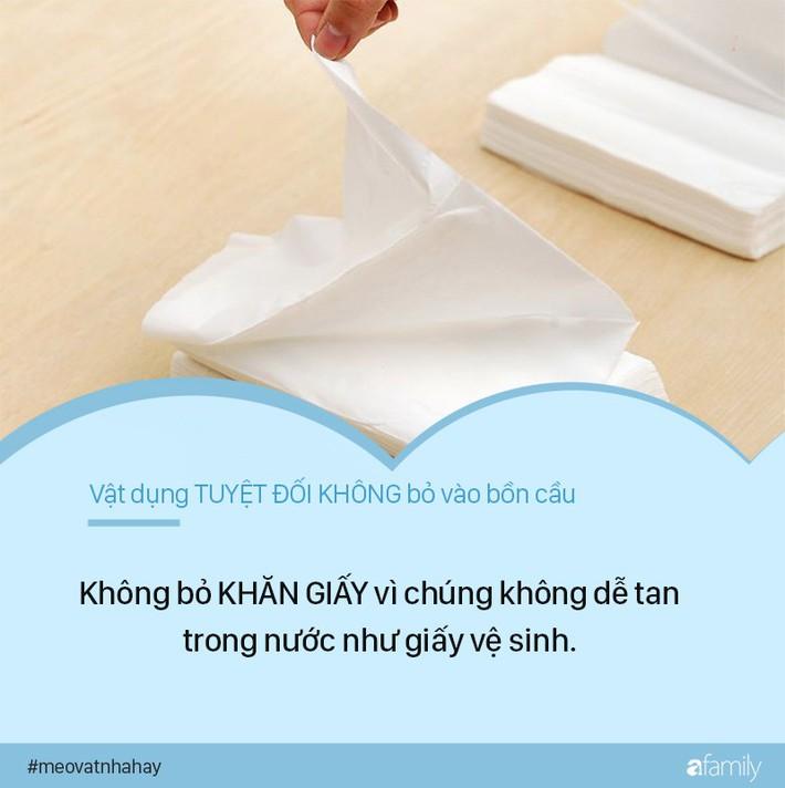 Mẹo vặt: 8 thứ tuyệt đối không được vứt vào bồn cầu vì cực kỳ nguy hiểm, nếu ngoan cố có ngày nhà sẽ ngập nước thải - Ảnh 1.