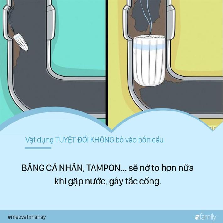 Mẹo vặt: 8 thứ tuyệt đối không được vứt vào bồn cầu vì cực kỳ nguy hiểm, nếu ngoan cố có ngày nhà sẽ ngập nước thải - Ảnh 5.