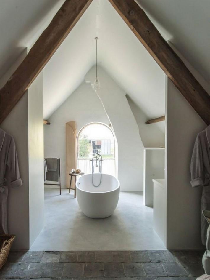 Những ý tưởng thiết kế phòng tắm gác mái siêu tinh tế, cực đẹp mắt - Ảnh 12.