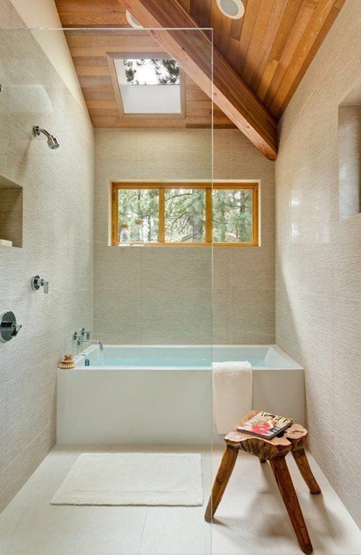 Những ý tưởng thiết kế phòng tắm gác mái siêu tinh tế, cực đẹp mắt - Ảnh 14.