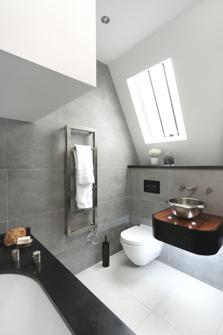 Những ý tưởng thiết kế phòng tắm gác mái siêu tinh tế, cực đẹp mắt - Ảnh 4.