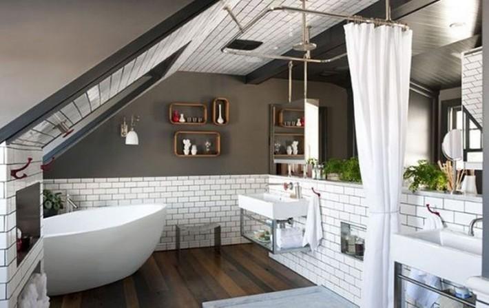 Những ý tưởng thiết kế phòng tắm gác mái siêu tinh tế, cực đẹp mắt - Ảnh 8.