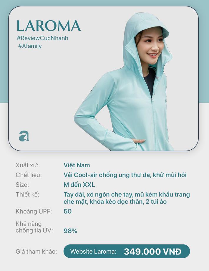 Review nhanh 10 mẫu áo chống nắng: Giá từ 350k đến cả triệu thì đều có khả năng ngăn tia UV ngang ngửa nhau - Ảnh 2.