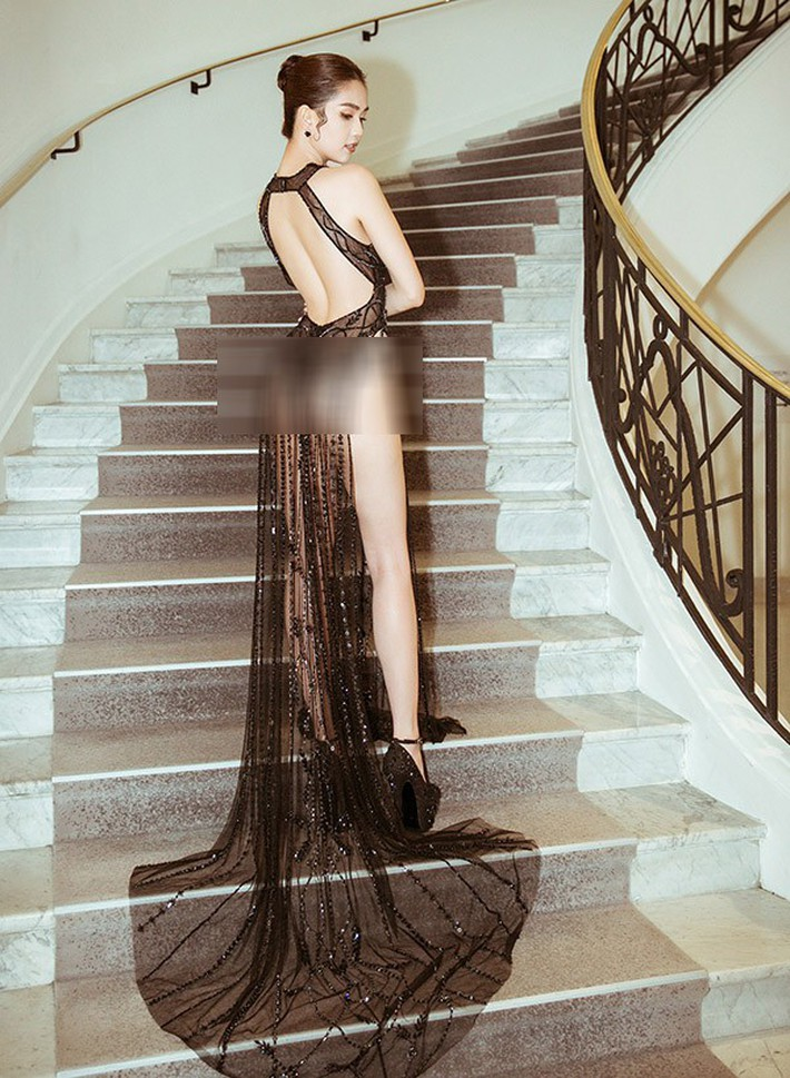 Tiết lộ gây shock từ NTK Đỗ Long: Ngọc Trinh hoàn toàn không mặc nội y trong bộ đồ hở bạo tại Cannes - Ảnh 5.