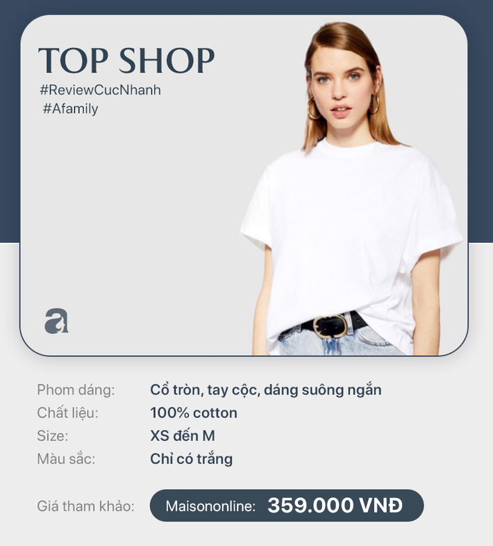 10 chiếc áo phông trắng giá từ 149k đến 799k mà nàng công sở có thể dễ dàng tìm mua  - Ảnh 10.