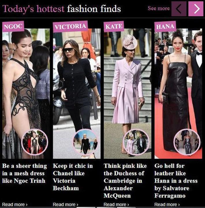 Ngọc Trinh với bộ váy hở bạo đứng đầu top quan tâm, lấn át cả công nương Kate và Victoria Beckham trên Daily Mail - Ảnh 2.