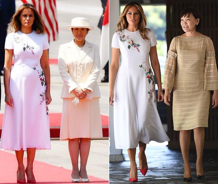 Bà Melania Trump diện đầm trăm triệu thời thượng, đối lập hoàn toàn với Hoàng hậu Masako và Đệ nhất phu nhân Aki Abe - Ảnh 8.