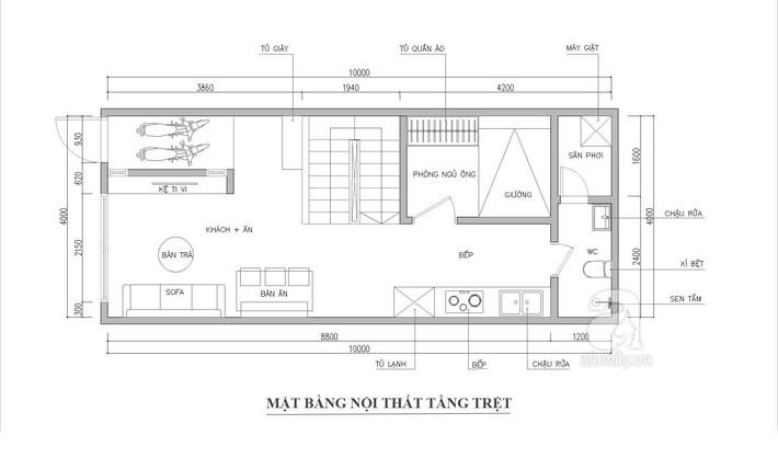 Tư vấn thiết kế nhà ống 2 tầng trên mảnh đất 40m² cho gia đình 3 thế hệ  - Ảnh 1.