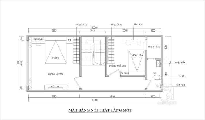 Tư vấn thiết kế nhà ống 2 tầng trên mảnh đất 40m² cho gia đình 3 thế hệ  - Ảnh 2.