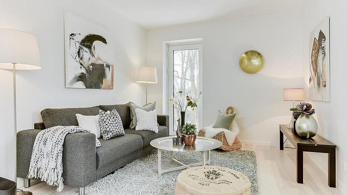 9 mẫu phòng khách là minh chứng hùng hồn cho việc nhỏ vẫn có thể chất như thường - Ảnh 8.