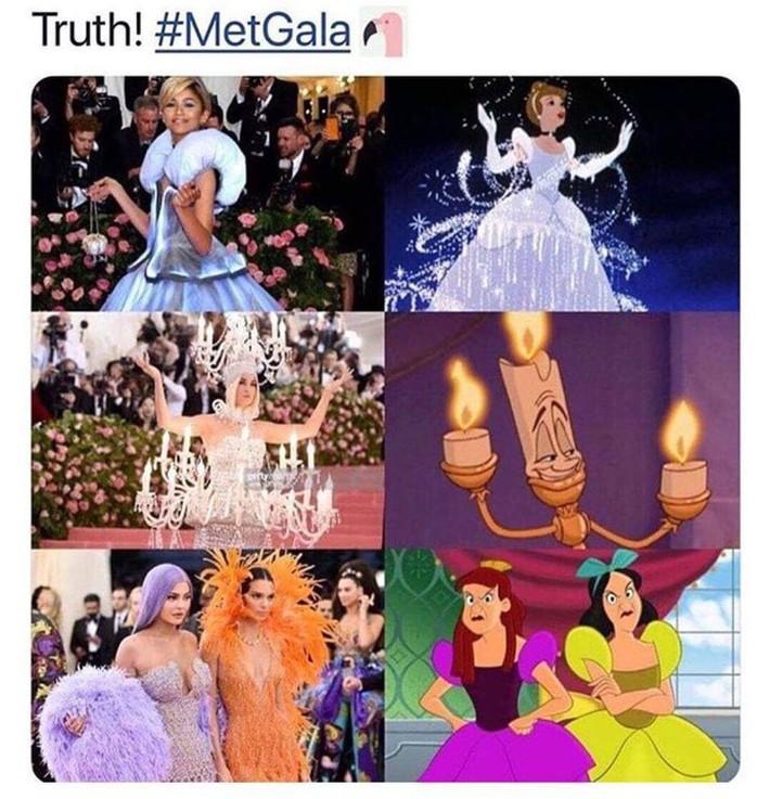 Lên đồ lồng lộn dự Met Gala, loạt khách mời còn có thêm cả loạt ảnh ví von bất ngờ từ cư dân mạng - Ảnh 2.