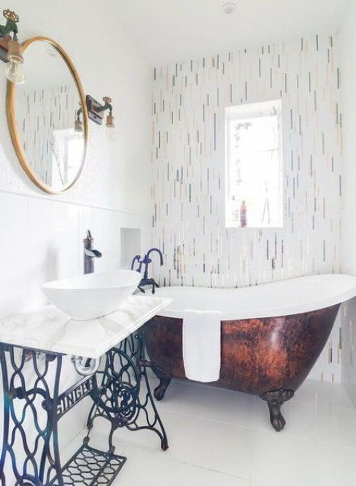 Những thiết kế bồn tắm tinh tế giúp bạn luôn lâng lâng như trong khách sạn - Ảnh 10.