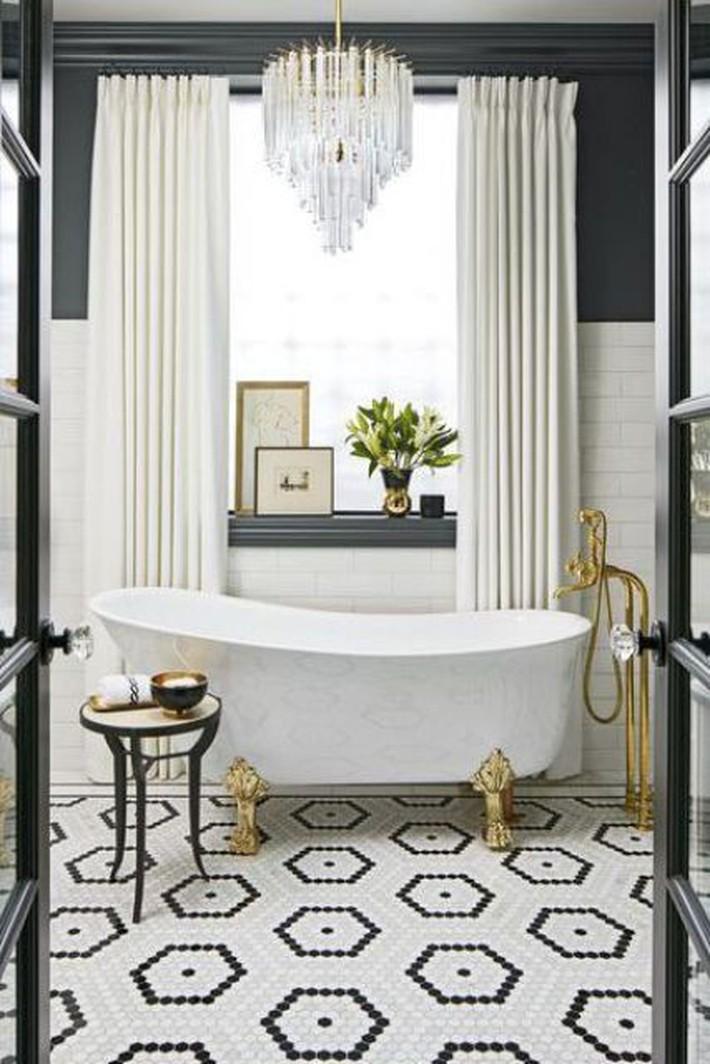 Những thiết kế bồn tắm tinh tế giúp bạn luôn lâng lâng như trong khách sạn - Ảnh 6.