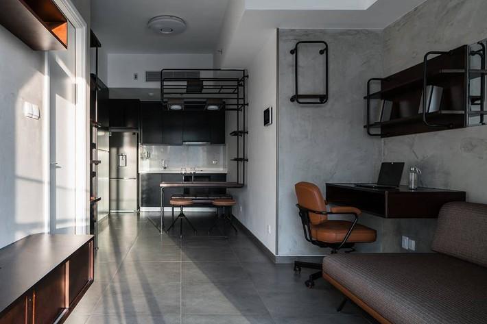 Căn hộ 50m² vừa tối giản, vừa đậm chất công nghiệp cực cá tính ở quận 2, Sài Gòn - Ảnh 1.