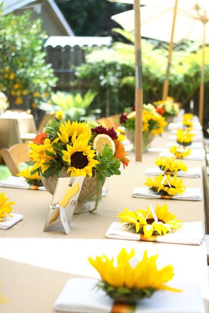 Hoa hướng dương - sắc màu tươi vui, hạnh phúc cho tiệc cưới của bạn - Ảnh 12.