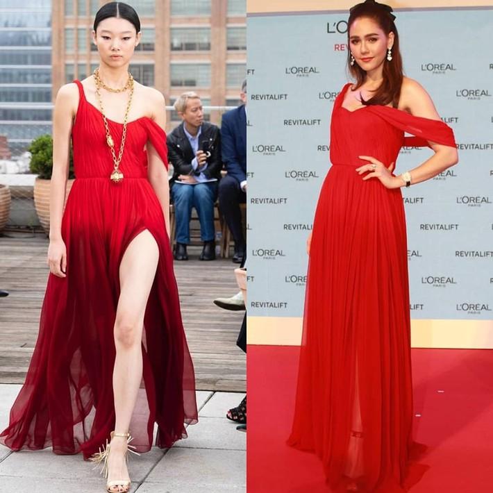 """""""Mỹ nhân đẹp nhất Thái Lan"""" Chompoo Araya ngọt ngào như công chúa đối lập, Thái Y Lâm sexy hết nấc khi diện chung váy - Ảnh 6."""