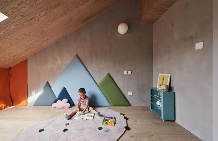 Cặp vợ chồng trẻ nới rộng căn hộ áp mái 85m2 thành không gian 115m2 sau cải tạo ai nhìn cũng mê - Ảnh 18.