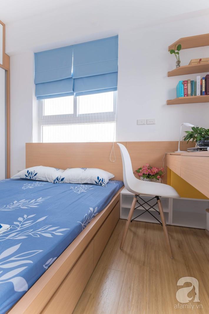 Căn hộ 66m2 với thiết kế đơn giản, thuận tiện cho cuộc sống hiện đại của gia chủ yêu màu xanh biển - Ảnh 12.