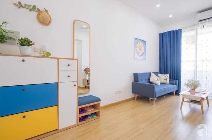 Căn hộ 66m2 với thiết kế đơn giản, thuận tiện cho cuộc sống hiện đại của gia chủ yêu màu xanh biển - Ảnh 6.