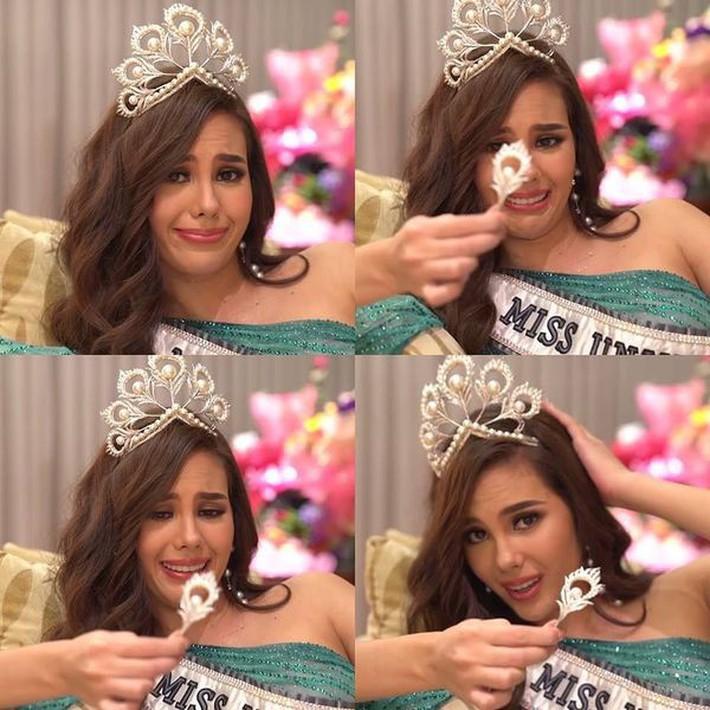 Hoa hậu Catriona Gray đội vương miệng fake trong đêm chung kết HH Hoàn vũ Philippines với lý do dở khóc dở cười - Ảnh 6.