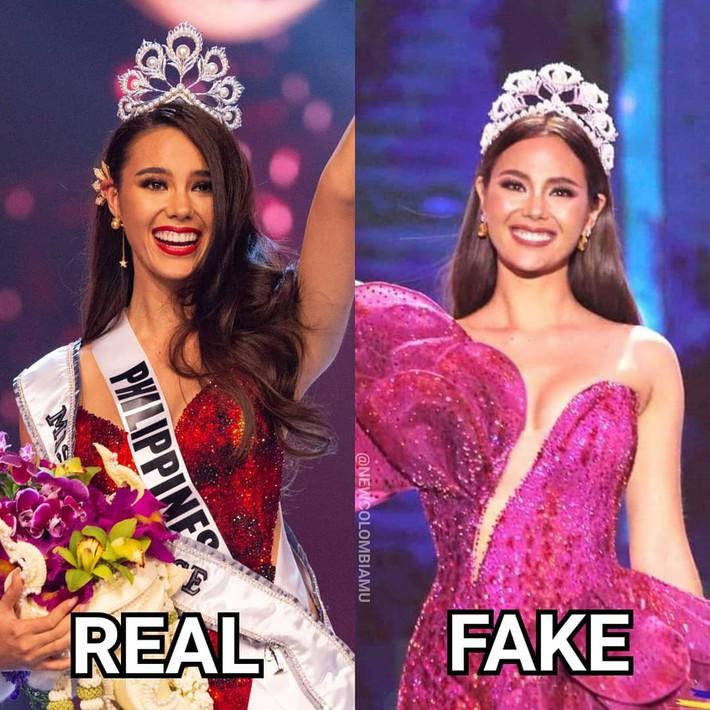 Hoa hậu Catriona Gray đội vương miệng fake trong đêm chung kết HH Hoàn vũ Philippines với lý do dở khóc dở cười - Ảnh 2.