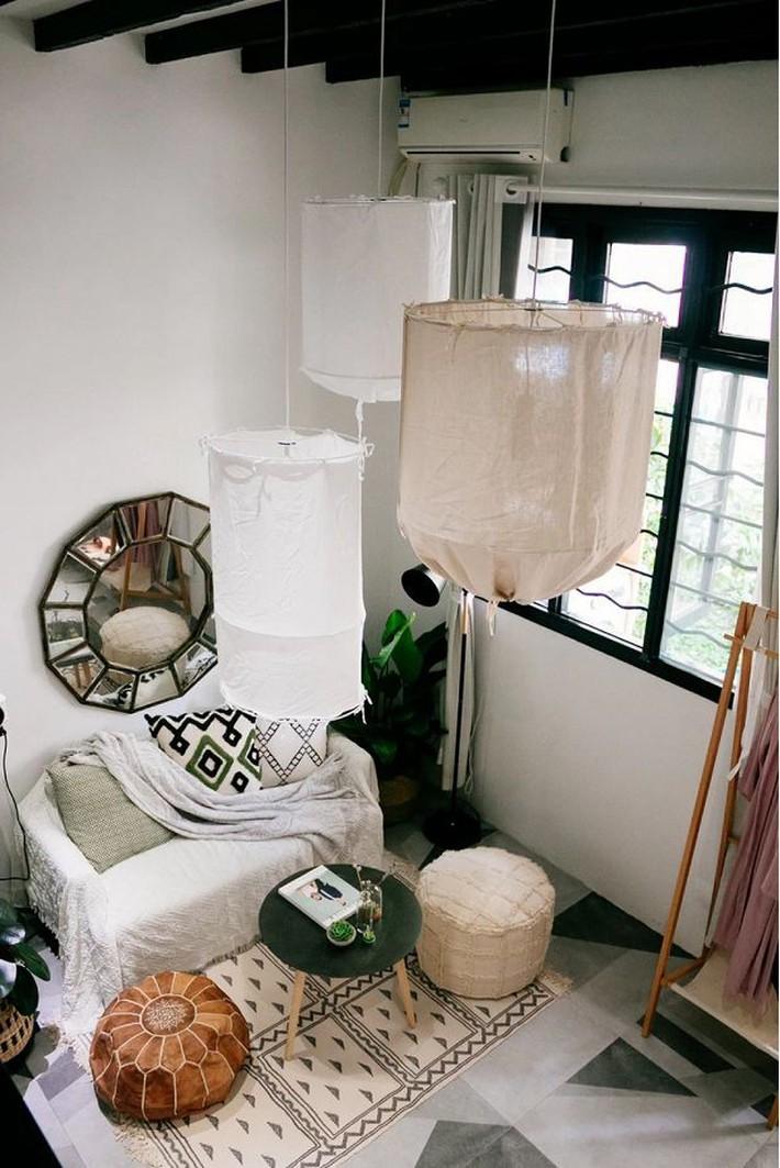 Phòng ngủ 26m2 cũ kỹ, tẻ nhạt biến thành không gian sống đáng yêu theo phong cách Maroc của cô gái trẻ - Ảnh 1.