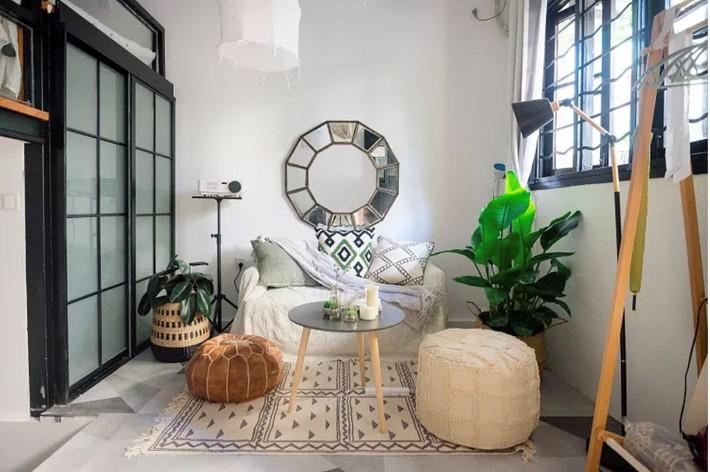 Phòng ngủ 26m2 cũ kỹ, tẻ nhạt biến thành không gian sống đáng yêu theo phong cách Maroc của cô gái trẻ - Ảnh 6.