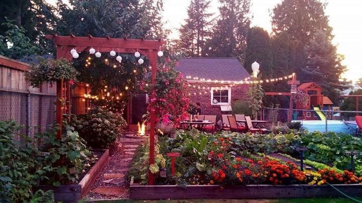 Mảnh vườn quá đỗi thơ mộng với hoa rực rỡ cùng rau quả của người mẹ trẻ cùng con gái xinh đẹp - Ảnh 3.
