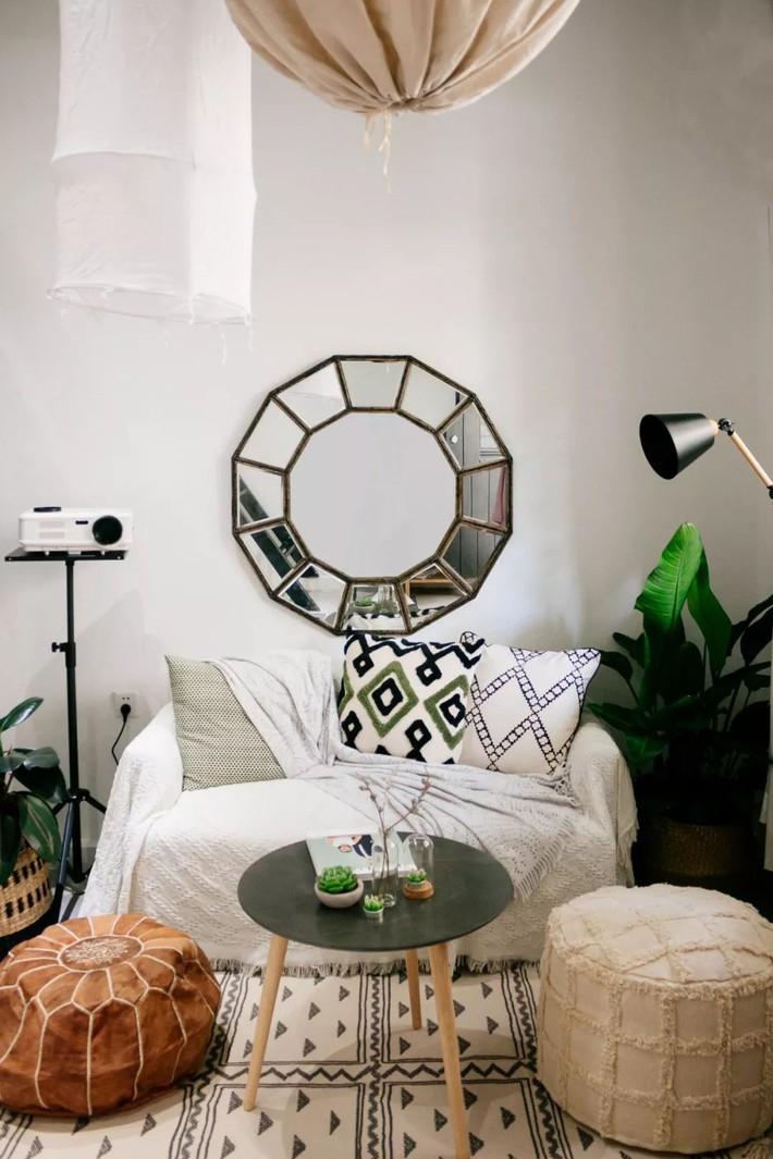 Phòng ngủ 26m2 cũ kỹ, tẻ nhạt biến thành không gian sống đáng yêu theo phong cách Maroc của cô gái trẻ - Ảnh 4.