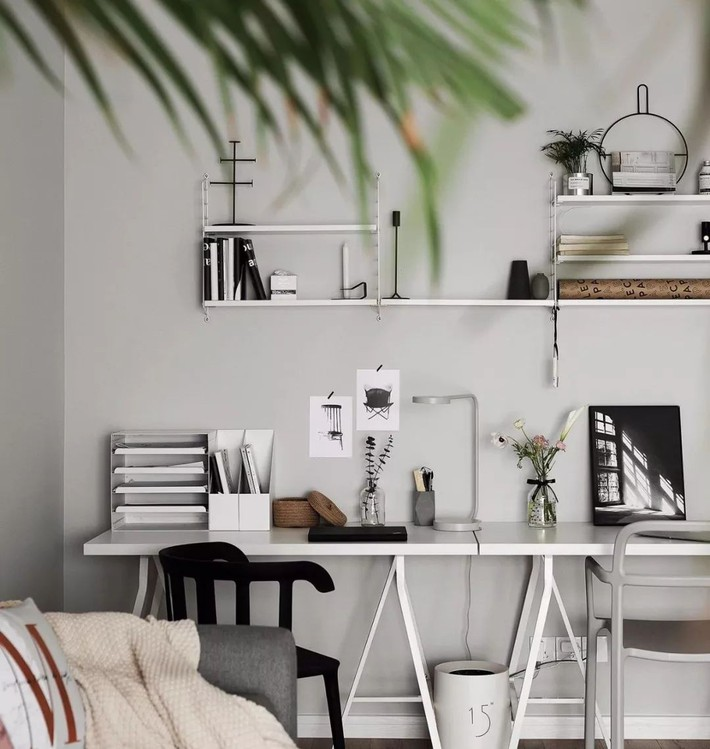 Trang trí bàn làm việc trong căn hộ chung cư hiện đại - Ảnh 7.