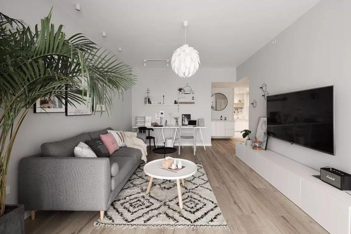 Cô gái xinh đẹp dành 4 tháng cải tạo căn hộ 72m2 thành không gian sống đẹp hiện đại với màu trung tính - Ảnh 4.