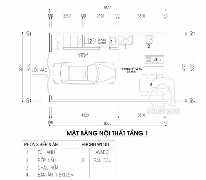 Tư vấn thiết kế nhà cho gia đình 6 thành viên trên mảnh đất 8,5x5m - Ảnh 1.