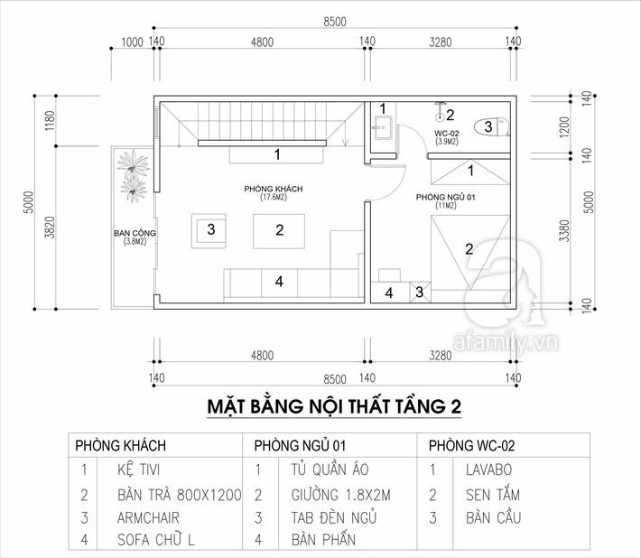 Tư vấn thiết kế nhà cho gia đình 6 thành viên trên mảnh đất 8,5x5m - Ảnh 2.