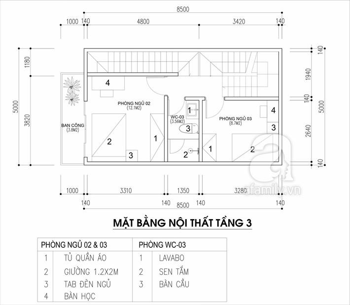 Tư vấn thiết kế nhà cho gia đình 6 thành viên trên mảnh đất 8,5x5m - Ảnh 3.