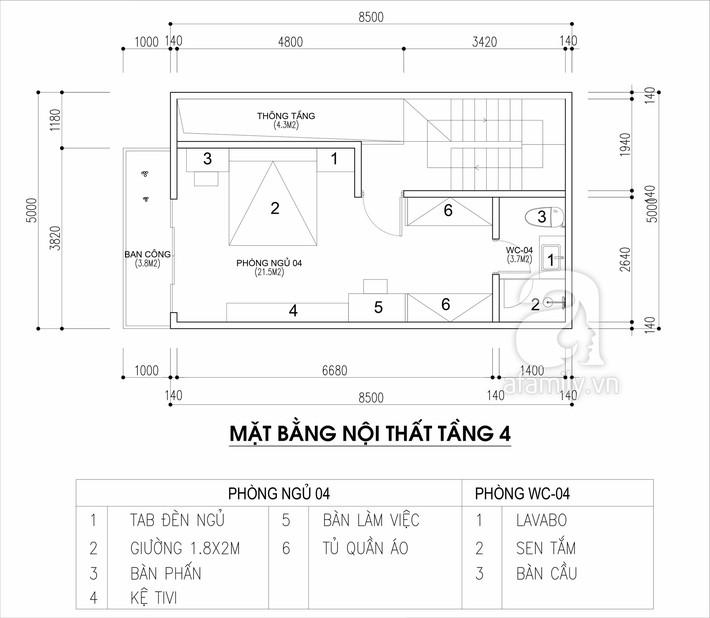 Tư vấn thiết kế nhà cho gia đình 6 thành viên trên mảnh đất 8,5x5m - Ảnh 4.