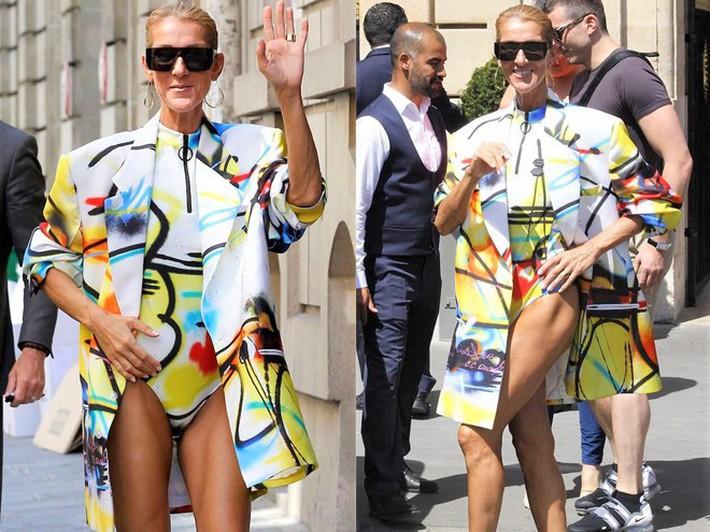 Lên đồ cũn cỡn như đồ bơi ra phố khoe chân nâu giòn, xem ra Celine Dion đã chất chơi quá đà rồi! - Ảnh 2.