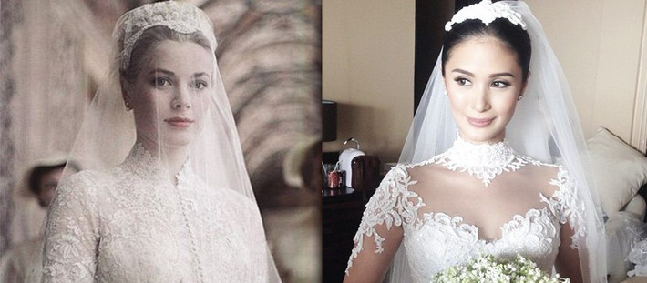 Heart-Evangelista-wedding-gown-Chiz-Escudero-wedding-Balesin-Grace-Kelly-Monaco