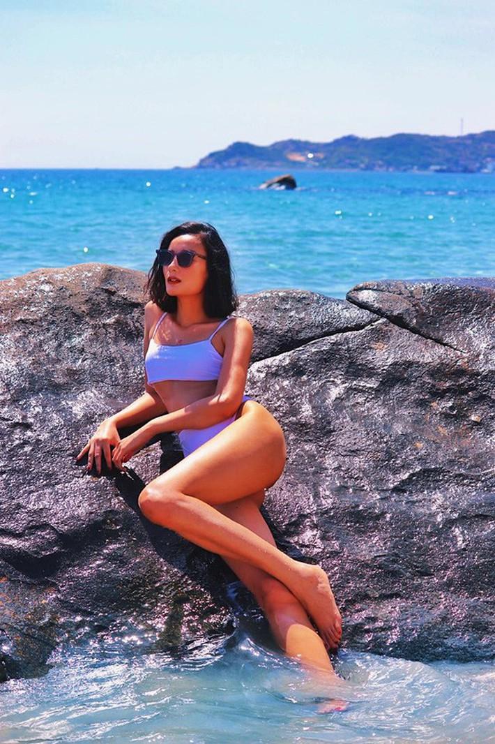 Diện bikini khoe đường cong nảy nở, Lê Thúy chính thức xóa sổ biệt danh bộ xương di động - Ảnh 1.