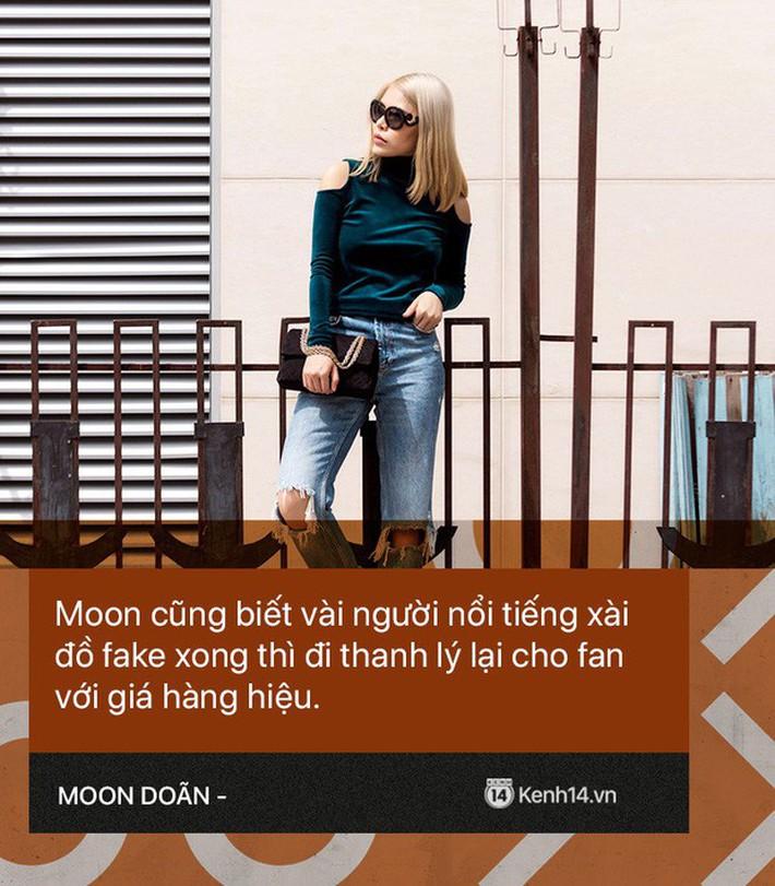 Moon Doãn - Nữ nhân chuyên bóc phốt hàng hiệu tâm sự: Mình bị dọa nhiều lắm, có cô còn mò đến nhà vào lúc 1 giờ sáng - Ảnh 4.