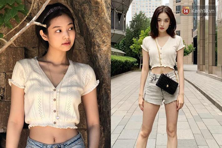 """Jennie chính là """"thánh tạo trend"""" của 2019: Sao Việt và hot girl châu Á copy rần rần, các shop may bắt chước đồ y chang - Ảnh 11."""