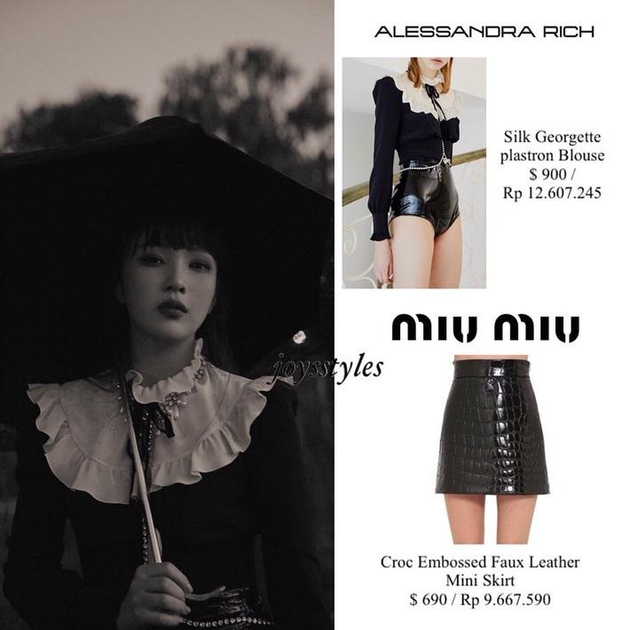 Đụng từ chiếc áo đến cách mix đồ: Jennie khi cool ngầu, khi dễ thương đến Joy (Red Velvet) lại đậm chất ma mị - Ảnh 5.