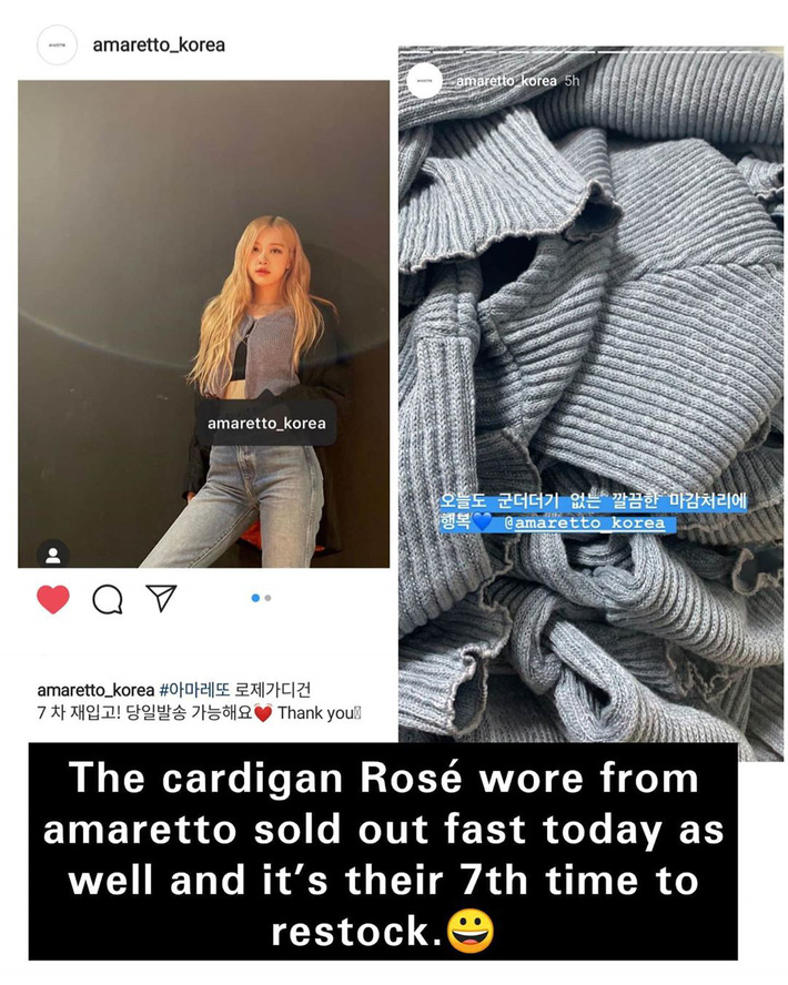 Rosé mặc đẹp quá nên áo được restock đến 7 lần thôi ý mà, ai chơi lại thánh sold out này không? - Ảnh 2.