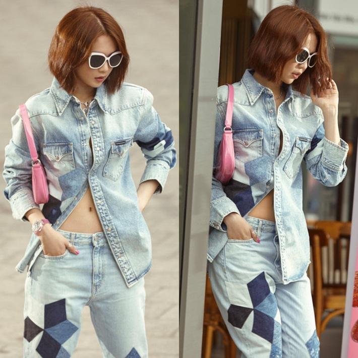 Ngọc Trinh dáng chuẩn nên mặc quần jeans đẹp mê là đương nhiên, mỗi tội lại có đôi lần mix đồ hơi lỗi - Ảnh 8.