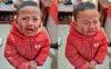 Cậu bé vẽ nguệch ngoạc khắp mặt rồi khóc thét ăn vạ sau khi ngắm