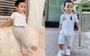Con trai Phạm Hương sở hữu đôi chân dài miên man giống hệt mẹ, nhìn cậu ấm mà ngưỡng mộ cách nuôi con của
