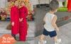 Lan Khuê khoe ảnh con trai tập thể dục, nhưng đôi giày giá hơn 13 triệu đồng mà cậu bé đi