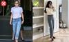 """Kiểu quần jeans yêu thích của Victoria Beckham lại khiến cô bị dìm chân """"ngắn một mẩu"""", chị em thấy thì đừng mua"""