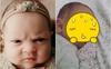 Bé gái 3 tuần tuổi giữ nguyên biểu cảm